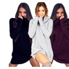 Womens Cowl Neck Loose Long Sleeve Oversize Sweater Jumper Shirt Tops