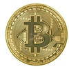 1 x Gold Plated Bitcoin Coin Collectible BTC Coin Art Collection Gift