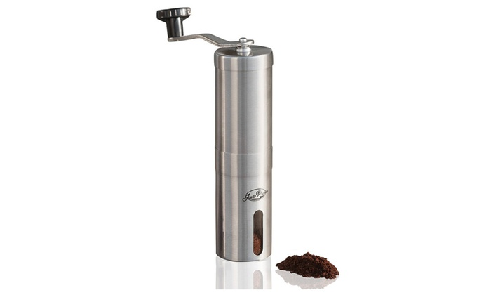 Manual Coffee Grinder Portable Stainless Steel Mini Hand Crank