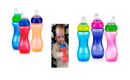 No-Spill Gripper Cup with Soft Silicone Spout for Kids (3 Packs) 0a1c98be-527c-40e8-b212-ad463a25ce1a