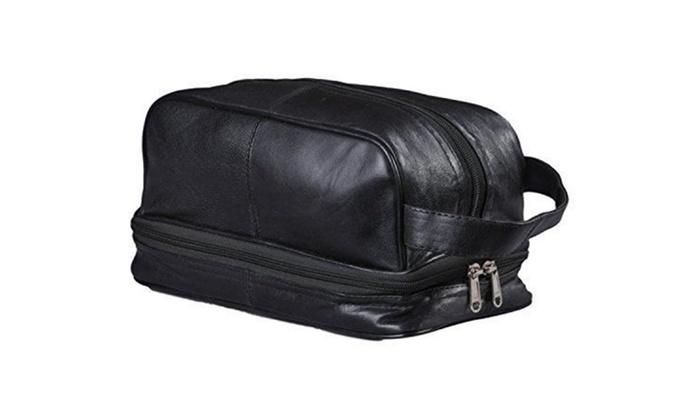 Mens Toiletry Bag Shaving Dopp Case For Travel