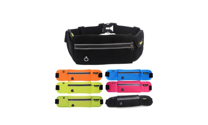 Unisex Sports Jogging Cycling Hiking Waterproof Waist Belt Pack Pouch