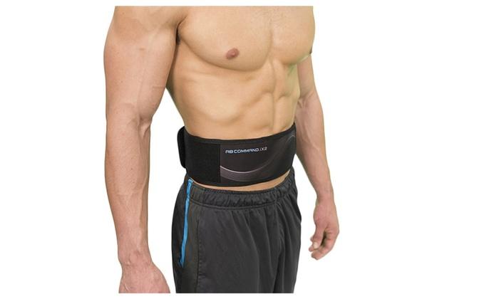 x command abdominal training and contour belt for firm ab muscles rh groupon com Contour AB Belt Replacement Pads Contour AB Belt Gel Pads