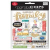 Me And My Big Ideas Sticks Chipboard Value Pack I Love My Family