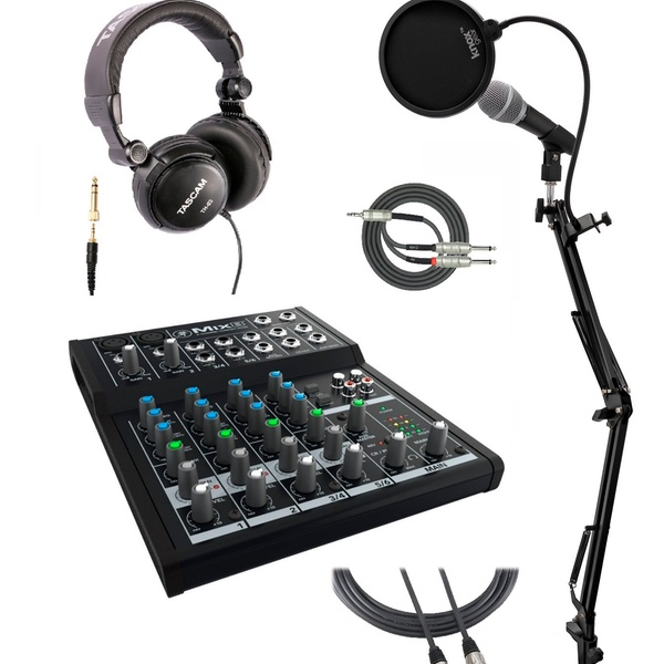 Compact Mixer Constructed w//Durable Metal Chasis+2 XLR Cables Mackie Mix8 8 Ch