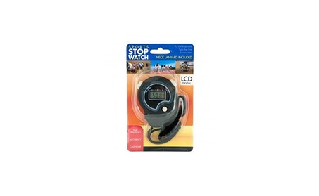 Sport Stopwatch with Neck Cord ad1e2a3f-0772-4769-9b2f-8ef932f29e38