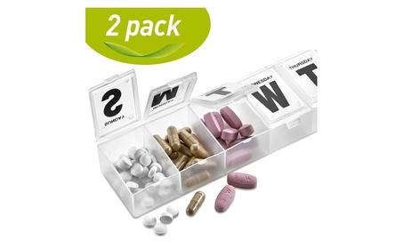 MEDca 7-day Pill Organizer Weekly Pill Planner PACK OF 2 2f1aa795-f300-4b46-82a4-fe2eebb9f126