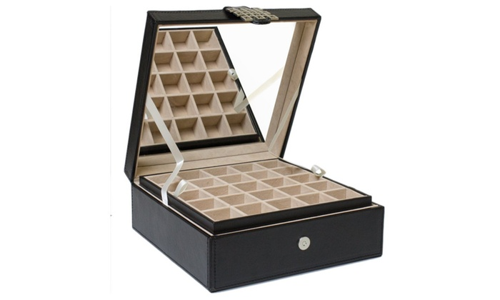 1a45f170f Glenor Co Classic 50-Section Jewelry Box Earrings Organizer | Groupon