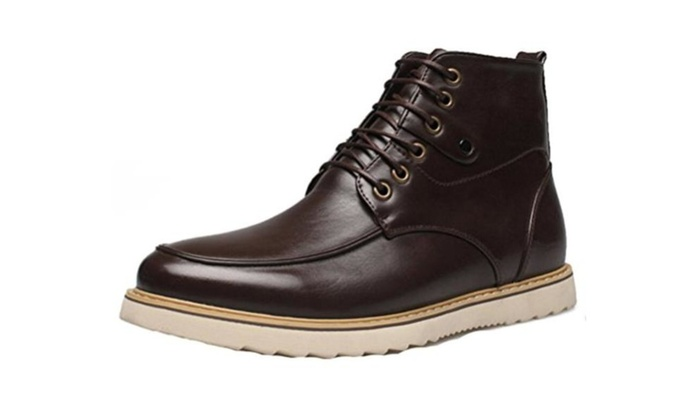 Men's Lace-up Work Genuine Leather Chukka Boot