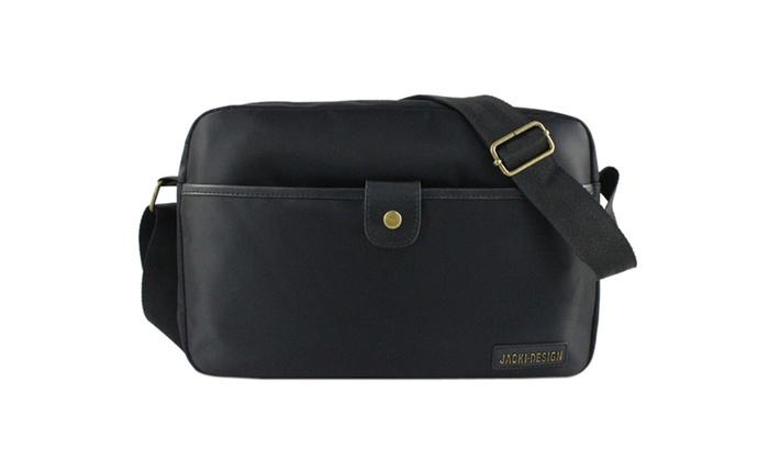 Jacki Design Men's Messenger Bag - Black