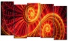 Sun Dance - Large Contemporary Canvas Art - 60x32 - 5 Panels