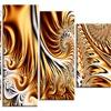 Gold & Silver Ribbons Abstract Aluminium Wall Art