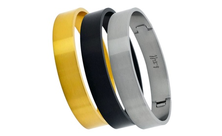Wide Polished Stainless Steel Bangle Bracelet 619d5e51-cc92-4802-a10a-af2332cdc5ee