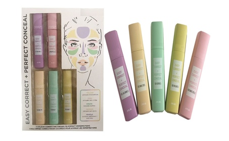 Correcting Cream 5 Piece Face Skin Care Kit Easy Correct and Conceal