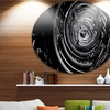 Fractal 3D Black Whirlwind' Abstract Circle Metal Wall Art