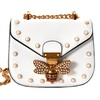 Designer Leather Bee Lock Small Flap Chain Women's Shoulder Bag