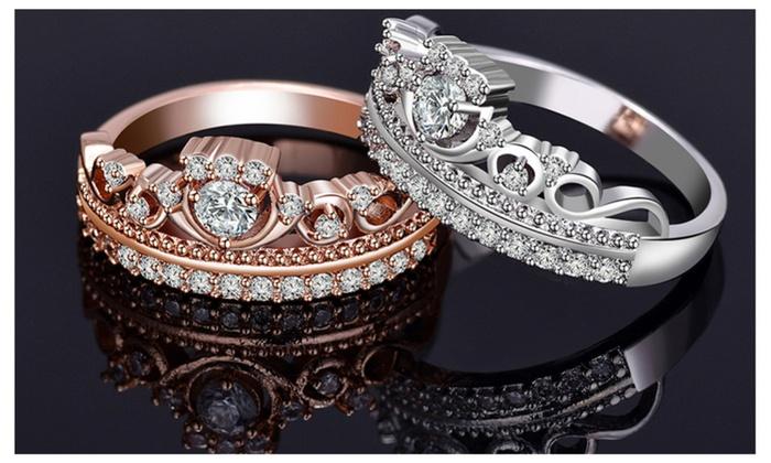 0034ff26b ... real my princess tiara clear cz pandora inspired rose silver 81207 a3893