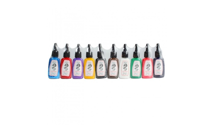 VegaFair: 10 Color Tattoo Inks Set 1/2 oz