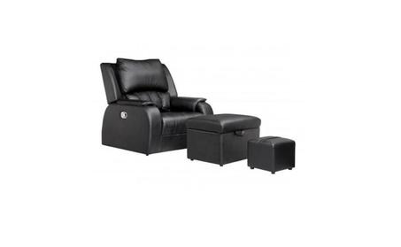 PU Leather Premium Recline Foot Massage Chair Sofa Ottoman Bed Table 10bcef4b-33b0-4360-bd36-fd471a53308c