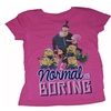 NWT Despicable Me Minions Normal Is Boring Hot Pink Girls T Shirt
