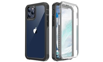 Shockproof Heavy Duty Clear Case Screen Protector For Apple iPhone 12/12 Pro