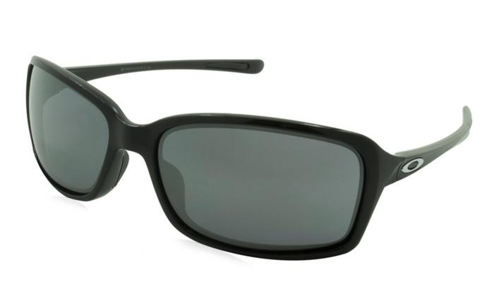 ed4fe892ce ... cheap oakley unisex sunglasses dispute frame black lens gray with  silver mirror e247c 67296