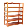 Wooden 5-Tier Shoe Rack Storage with 6 Pair Form Shoe Entryway Home