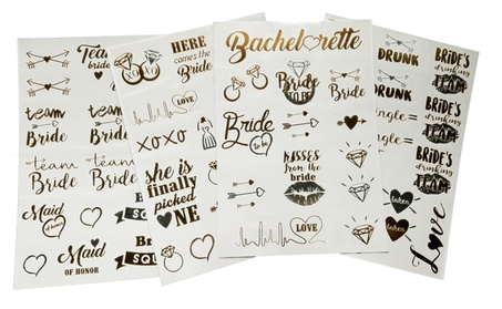 Bachelorette party/ favors tattoos - metallic flash temporary tattoos 89dd158c-0014-4ac9-bd4c-5827dc64e344