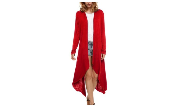 Women's Open Front Insulation Loose Fit Solid Simple Coats