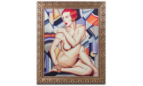 Catherine Abel 'Cubist Nude Orange and Purple' Ornate Framed 1920f522-0244-4fd7-a409-77579a19e947