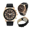Casual Geneva Faux Leather Quartz Analog Wrist Watch