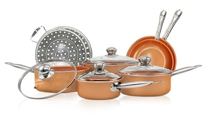 Nonstick Ceramic-Coated Cookware Set (11-Piece)