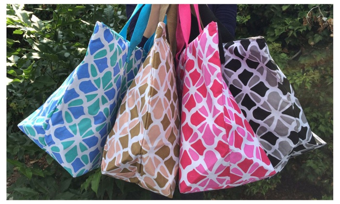 Large Colorful Summer Breeze Canvas Tote/Bag- 4 colors