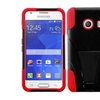 Insten Red Hybrid Hard Case Kickstand For Samsung Galaxy Ace Style