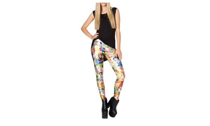 Women's Printed Casual Cartoon Prints Casual Ninth Leggings - As Picture / One Size