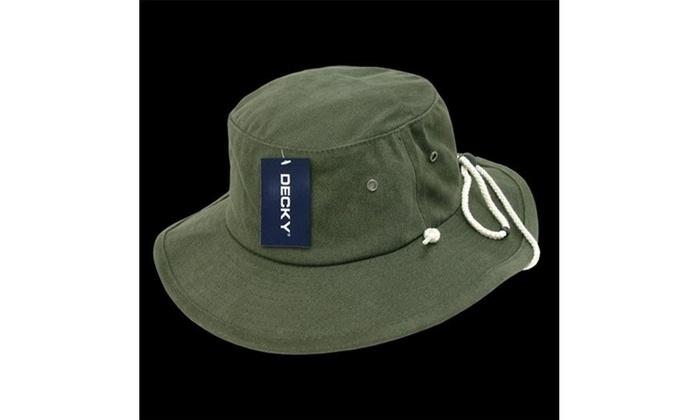3f8b5788fbd Decky 510-PL-OLV-06 Aussie Hat Plain Olive - Small   Medium Multi-color  Label original.jpg
