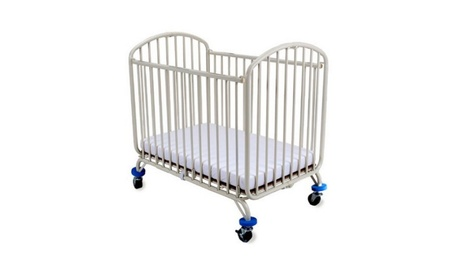 L.A. Baby Folding Arched Compact Folding Portable Crib with Mattress 9d853832-a40a-4e48-809c-0b7649f1bd61