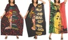 Women's Caftan Dresses Lovely Prints Long Maxi Dress One Size Fits Most