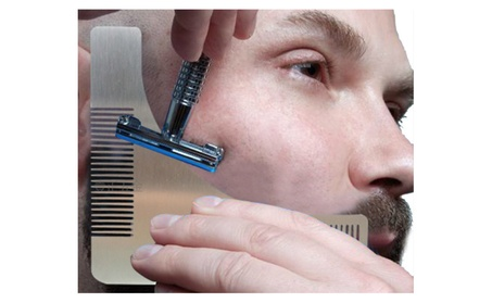 Stainless steel Beard Styling & Shaping Template Comb Trim bc2eca1a-57c2-4d67-ba72-476c638a4e4a