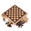 Deluxe Wooden 3-in-1 Chess, Backgammon, & Checker Set