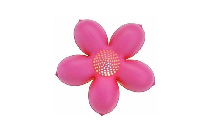 Up to 50 off on childrens pink flower wall lamp groupon goods childrens pink flower wall lamp mightylinksfo