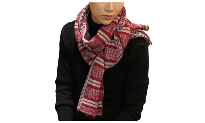 DPN Men's Fashion Winter Soft Casual Keep Warm Fall Thicken Knit Scarf