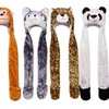 Plush Animal Beanie Hat and Gloves Combo for Adults & Kids