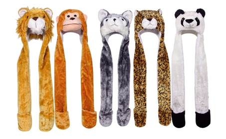 Plush Animal Beanie Hat & Gloves Combo (Adults & Kids) ce94a60f-078c-4da1-84e5-da732092d776