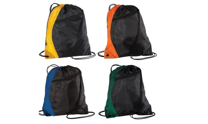 Mix store: New Colorblock Drawstring Backpack Cinch Sack School Tote Gym Bag.