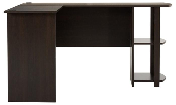 Brilliant Ameriwood Home Dakota L Shaped Desk With Bookshelves Espresso Download Free Architecture Designs Licukmadebymaigaardcom