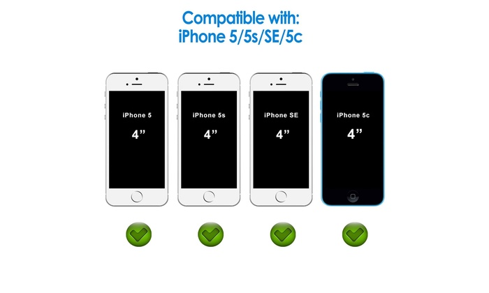 e927787a559 Privacy Screen Protector for iPhone SE 5s 5c 5, Tempered Glass Film, 2-