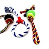 Deluxe Dog Toys Cotton Blend Chew Tennis Ball Ropes (Sets of 3)