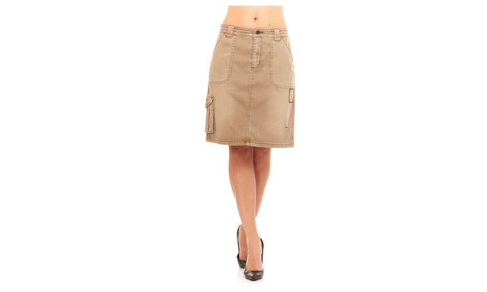 3671a27d05fae Women Military Army Fatigue Camo Skirt By Red Jeans NYC | Groupon