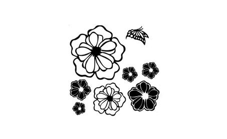 Refrigerator Wall Butterflies Flower Sticker Home Decals c4ea46db-8bb8-4361-8219-c59bf36a571a